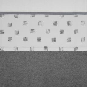 Meyco Wieglaken Block Stripe Grijs 75 x 100 cm