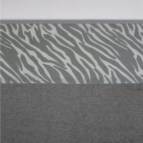 Meyco Ledikantlaken Zebra Grijs 100 x 150 cm