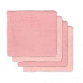 Jollein Bamboe Multidoek Pale Pink 4 Pack 70 x 70 cm