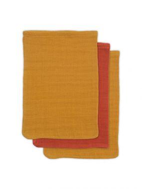 Jollein Bamboe Washandje Mustard Rust 3 Pack