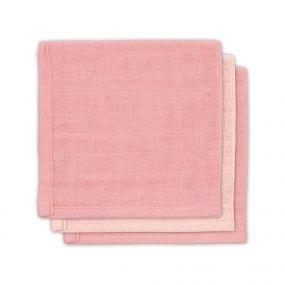Jollein Bamboe Monddoekje Pale Pink 3 Pack