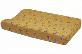 Meyco Aankleedkussenhoes Zebra Animal Honey Gold 50x70 cm