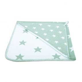 Baby's Only Badcape Ster Mint/Wit