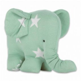 Baby's Only Knuffel Olifant Ster Mint/Wit