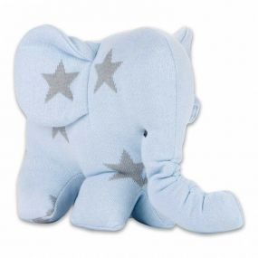 Baby's Only Knuffel Olifant Ster Blauw/Grijs