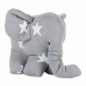 Baby's Only Knuffel Olifant Ster Grijs/Wit