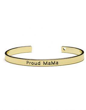 Proud MaMa Babybel Armband Bangle Goud