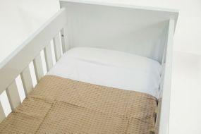 Babywellness Dekbedovertrek Creme 100 x 135 cm