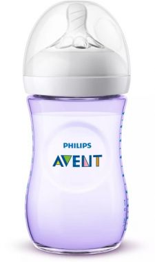 Avent Babyfles Natural 260 ML Paars