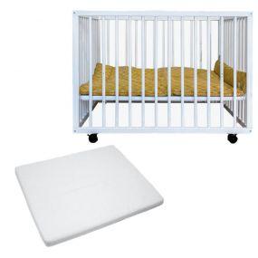 Cabino Babybox Met In Hoogte Verstelbare Bodem Wit Met Matras