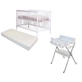 Cabino Baby Bed Basic Open Met Matras En Badcommode