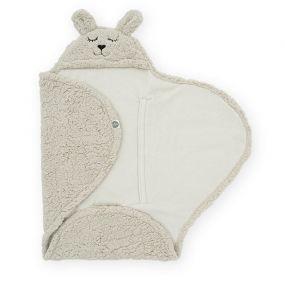 Jollein Wikkeldeken Bunny Nougat 100 x 105 cm