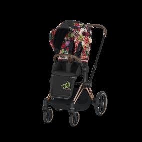Cybex Kinderwagen Priam Spring Blossom Dark Black