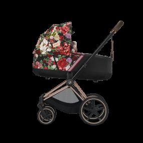 Cybex Kinderwagen Priam 2 in 1 Spring Blossom Dark Black