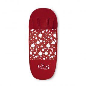 Cybex Voetenzak Platinum Petticoat Dark Red