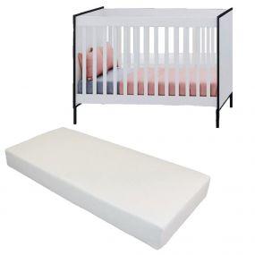 Cabino Baby Bed Met Matras Dalton Wit 60 x 120 cm