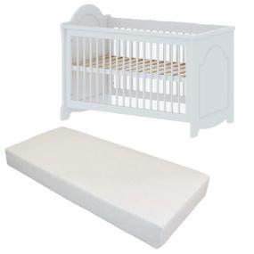 Cabino Baby Bed Met Matras Daphne Wit 60 x 120 cm
