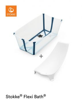 Stokke® Flexi Bath™ Transparant Blue + Newborn Support
