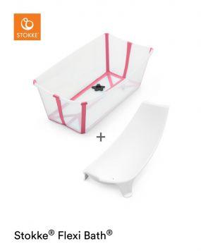 Stokke® Flexi Bath™ Transparent Pink + Newborn Support
