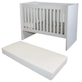 Cabino Baby Bed Met Matras Fresno Wit 60 x 120 cm