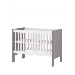 Cabino Baby Bed Fresno White Grey