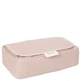 Koeka Hoes Voor Babydoekjes Riga Grey Pink