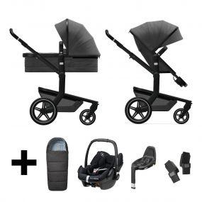 Joolz 3 In 1 Kinderwagen Day+ Awesome Anthracite + Maxi Cosi Autostoel + Adapterset + Base + Voetenzak
