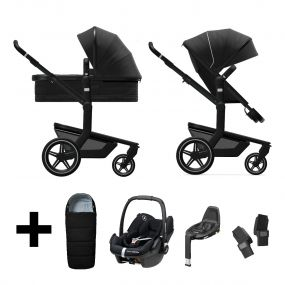 Joolz 2 In 1 Kinderwagen Day+ Brilliant Black + Maxi Cosi Autostoel + Adapterset + Base + Voetenzak