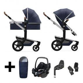 Joolz 3 In 1 Kinderwagen Day+ Classic Blue + Autostoel + Adapterset + Base + Voetenzak