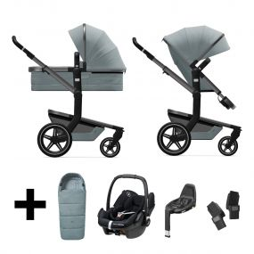 Joolz 2 In 1 Kinderwagen Day+ Modern Blue + Autostoel + Adapterset + Base + Voetenzak