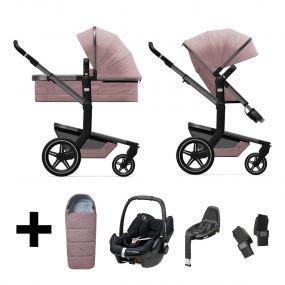 Joolz 2 In 1 Kinderwagen Day+ Premium Pink + Autostoel + Adapterset + Base + Voetenzak