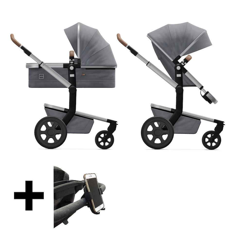 Joolz 2 in 1 Kinderwagen Day3 Gorgeous Grey + Telefoonhouder