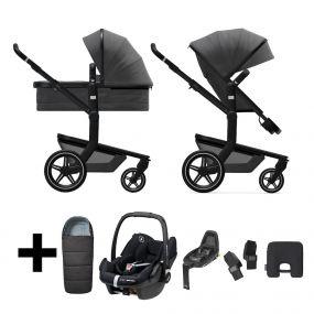 Joolz Day+ Kinderwagen 3 in 1 Awesome Anthracite + Voetenzak + Maxi Cosi Autostoel + Base + Adapters + Smarth Cushion