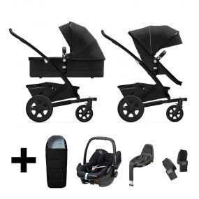 Joolz Kinderwagen 3 in 1 Geo2 Brilliant Black + Autostoel + Adapterset + Base + Voetenzak