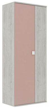 2-deurs Kledingkast Jules Antique Pink
