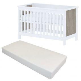 Bebies First Baby Bed Met Matras Lars 60 x 120 cm