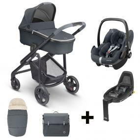 Maxi-Cosi 2 in 1 Kinderwagen Lila CP Essential Graphite + Gratis Comfort Pack