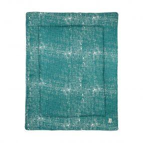 Meyco Boxkleed Fine Lines Emerald Green 77 x 97 cm