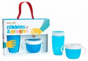 Munchkin Nibbles & Giggles Gift Set Blauw