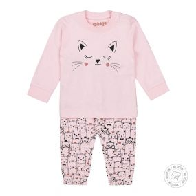 Dirkje Meisjes Pyjama Roze Poes