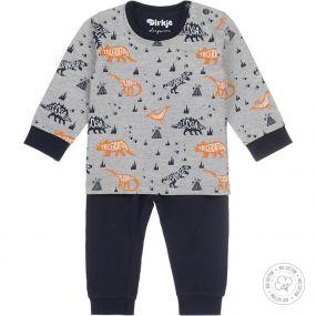 Dirkje Jongens Pyjama Grijs Dino