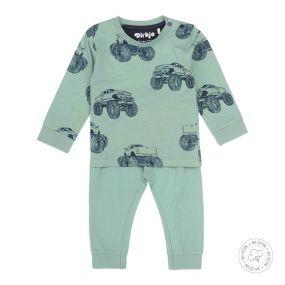 Dirkje Jongens Pyjama Green Monstertruck