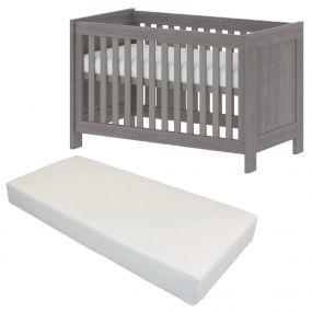 Bebies First Baby Bed Met Matras Nevada 60 x 120 cm