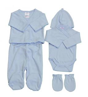 Petit Villain Newborn Giftset 5 delig Blauw