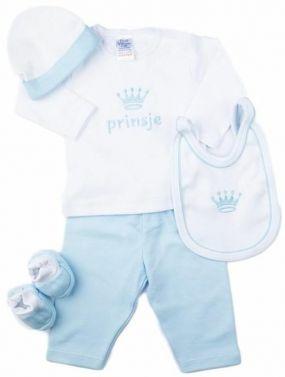 Petit Villain Cadeauset 5 Delig Prinsje Wit Blauw