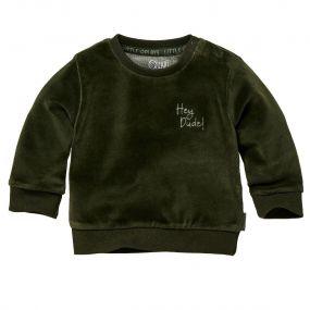 Quapi Sweater Zane Velvet Forest Green