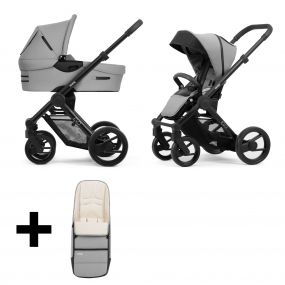 Mutsy Kinderwagen Evo Bold Pebble Grey Black