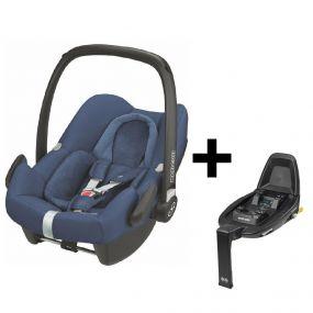 Maxi Cosi Autostoel Rock Nomad Blue + Familyfix3 Base + Autostoelbeschermer