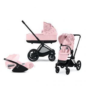 Cybex Kinderwagen 3 In 1 Priam Platinum Simply Flowers Pale Blush