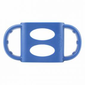 Dr. Brown's Siliconen Handvat Standaard Halsfles Blauw